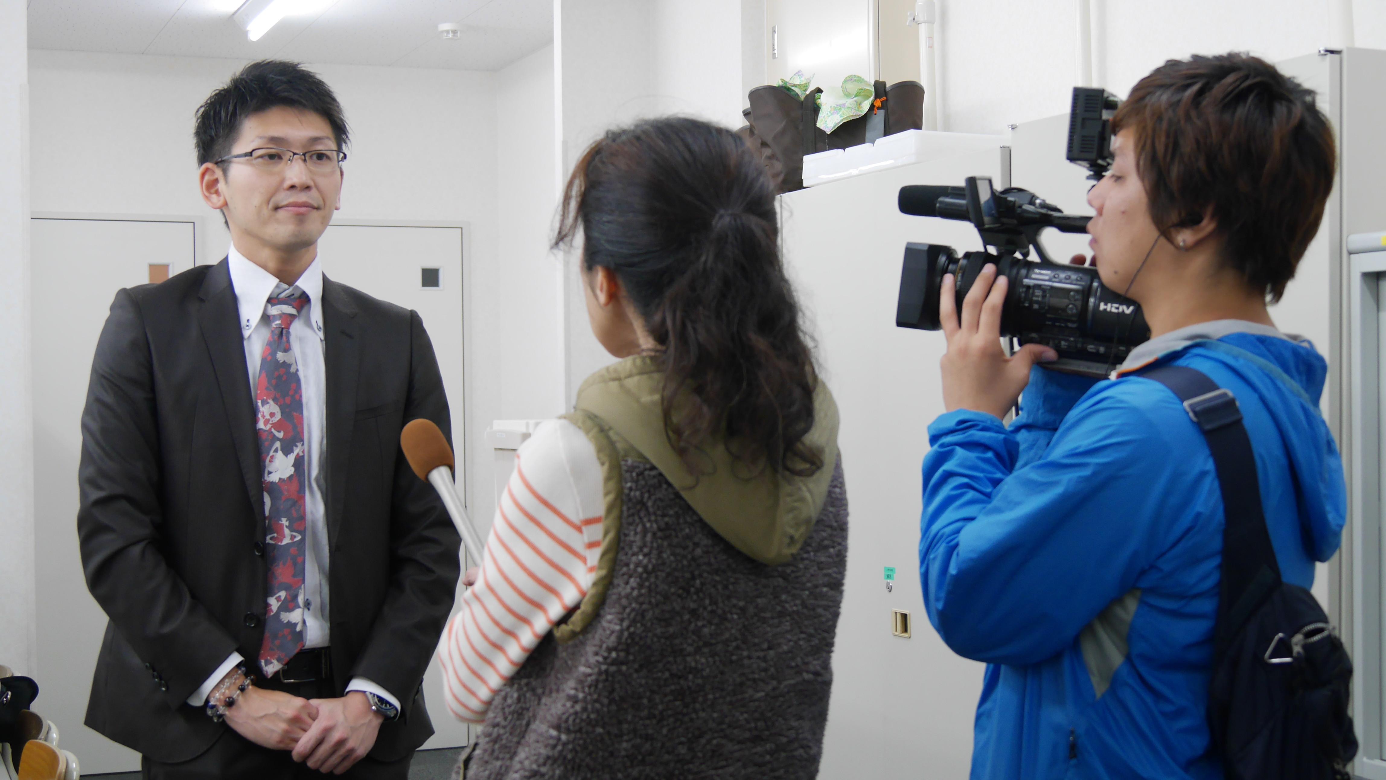 ニュースKECゼミナールがテレビ取材を受けました