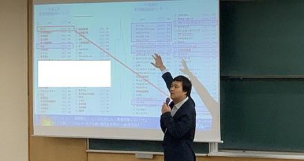 京都産業大学様にて弊社代表小椋が講義を行いました。